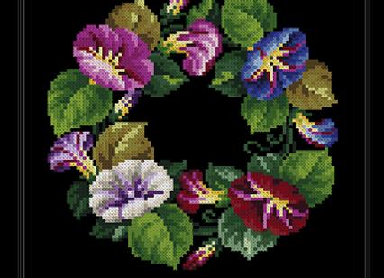 Antique Oval Violet Bouquet