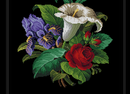 Iris Lily,Rose Bouquet