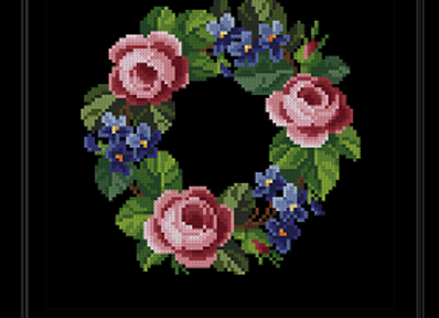 Garland of Roses and Violets