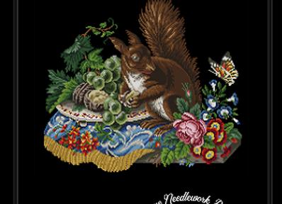 Antique Floral Squirrel