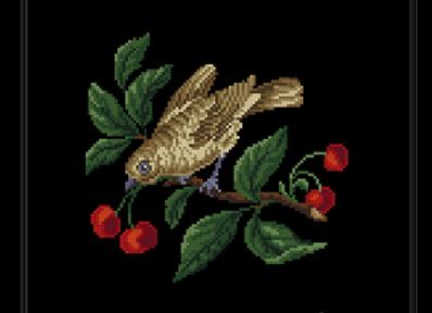 A Bird on a Cherry Tree Branch