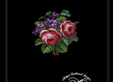Roses and purple flowers