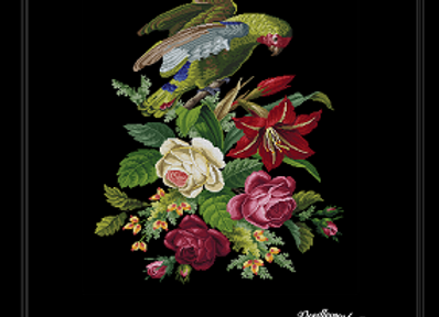 A parrot in Flowers