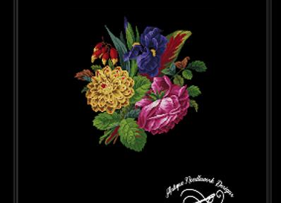 Iris,Dahlia and Rose Bouquet
