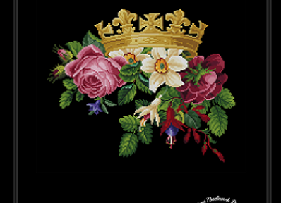 Royal Crown and Flowers