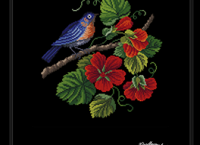 Bird on Nasturtium