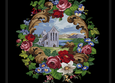 Antique Floral Church