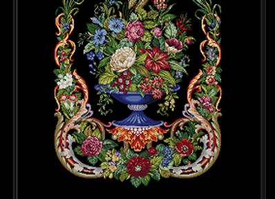 Large Floral  Vase