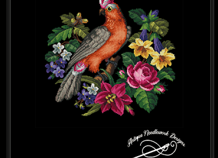 Antique Berlin - Floral Cockatoo