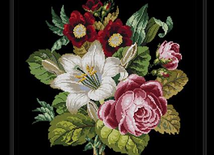 victorian Floral  Bouquet
