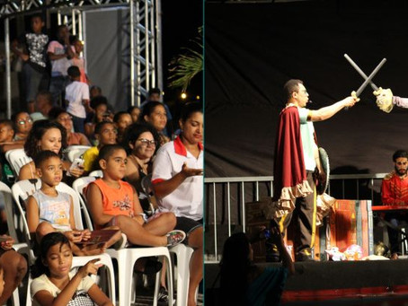 Teatro vai aos bairros exibiu Dom Quixote na Queimadinha