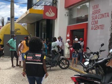 Bancos em Feira descumprem medidas de prevenção ao coronavírus