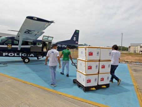 Bahia recebe 600 mil novas doses de vacinas