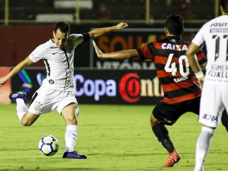 Copa do Brasil: Vitória e Corinthians empatam sem gols no jogo de ida