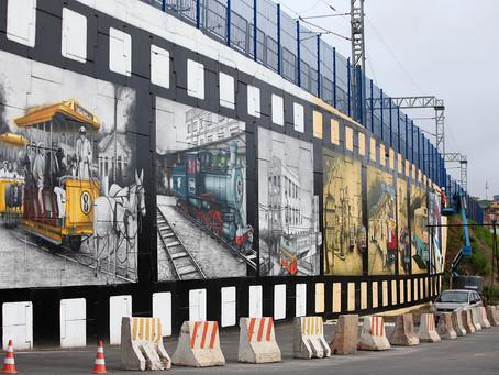 Grafite no metrô conta história do transporte na capital