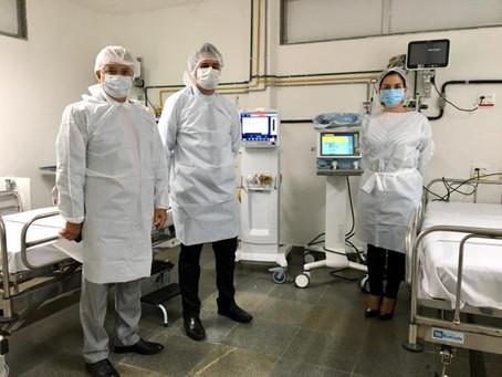 Bahia recebe do Ministério da Saúde 120 respiradores para UTI