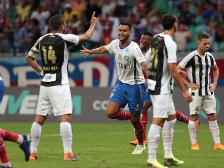 Bahia faz gol nos acréscimos e vence partida contra o Santos