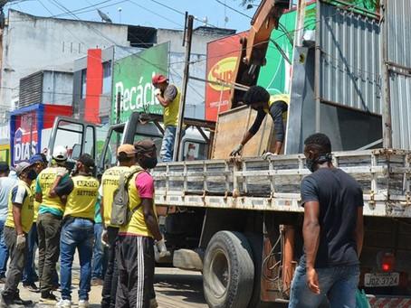 Remoção de barracas chega à Marechal Deodoro