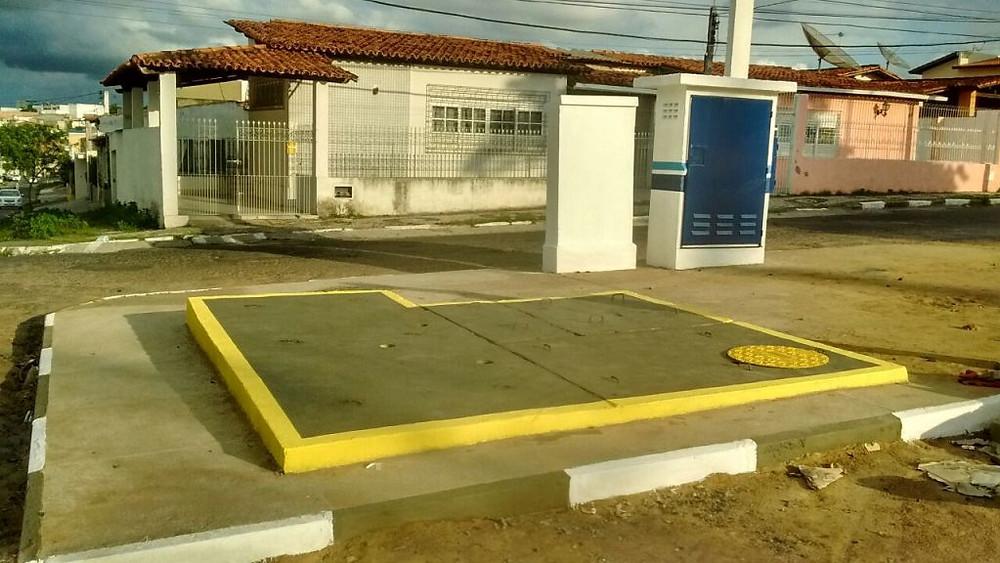 Equipamento da Embasa instalado no Jardim Cruzeiro