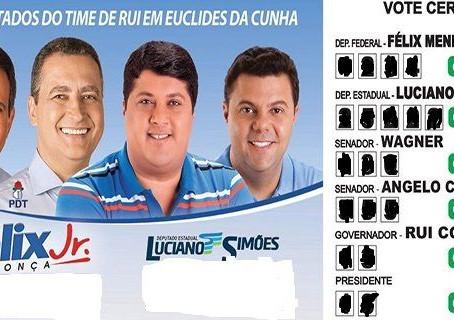 Deputado do DEM tem santinho com Rui Costa e bota a culpa em aliado do PDT