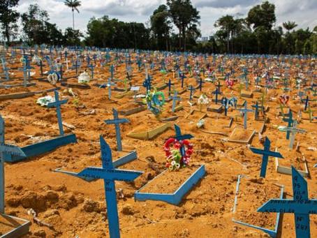 Brasil bate recorde de mortes por Covid-19: 1.582 em um dia