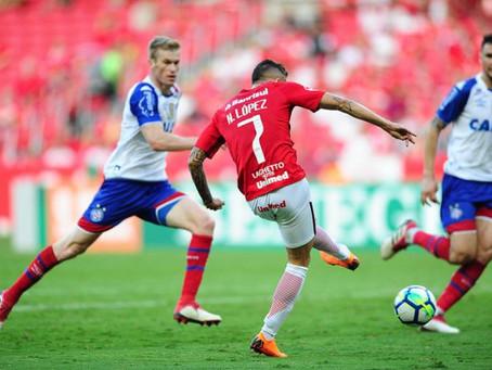 Bahia é derrotado na estreia pelo Inter no Beira Rio: 2 a 0