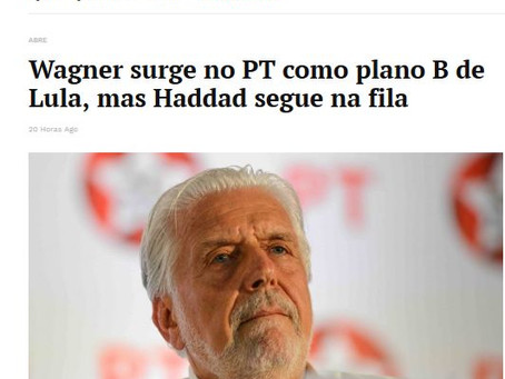 Wagner já está definido como substituto de Lula, afirma coluna política brasiliense