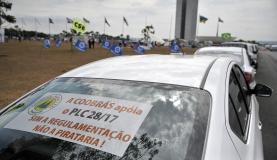 taxistas protestam