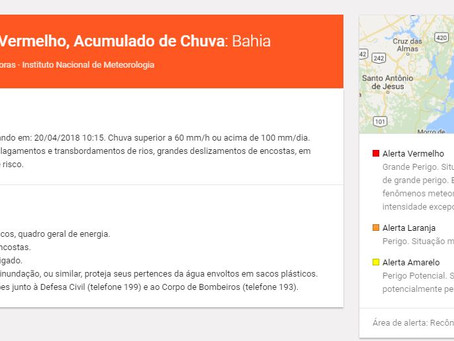 Meteorologia coloca Salvador e Recôncavo em Alerta Vermelho devido à chuva