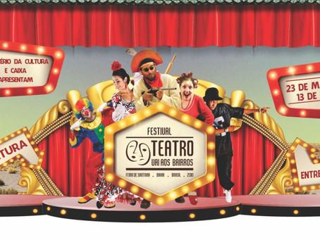 Teatro Vai aos Bairros nesta terça-feira no Feira X