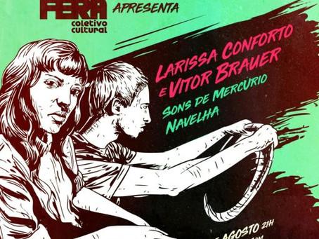 "Vitor Brauer e Larissa Conforto trazem a Feira a turnê ""Sem sair na Rolling Stone"""
