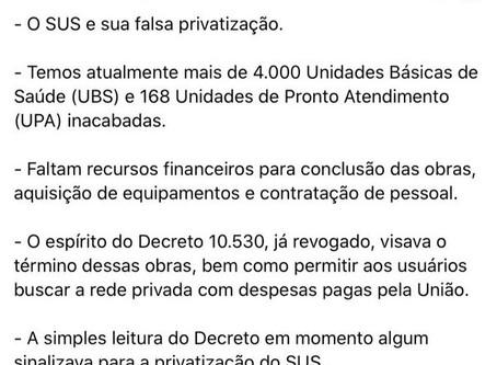 Bolsonaro revoga decreto interpretado como privatização do SUS