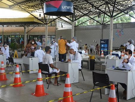 Quase cinco mil foram vacinados em Feira durante o fim de semana