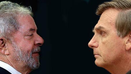 Lula 30,8% e Bolsonaro 22,0% segundo o Instituto Paraná