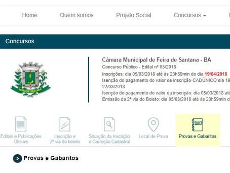 Abstenção foi de 30% no concurso da Câmara de Feira de Santana