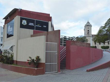 Guarda Municipal monta base fixa na praça Padre Ovídio