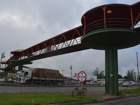 Passarela da Cidade Nova ficará interditada para obras