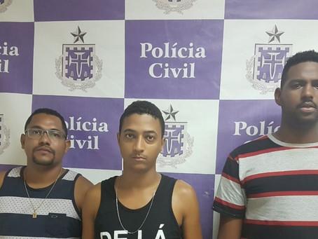 Assaltantes presos no dia seguinte após ataque a banco em Jeremoabo