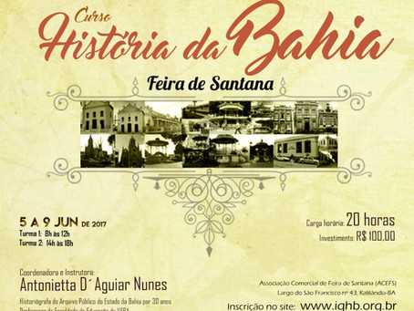 Inscrições abertas para curso de História de Feira de Santana e da Bahia