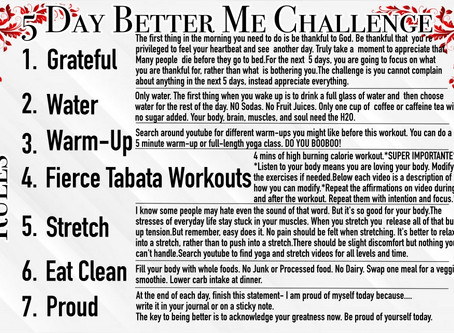 5 Day Better Me Challenge