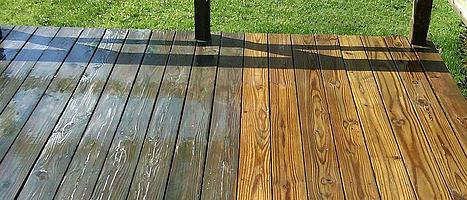 power wash deck, power wash, powerwash, summit outdoor designs, summit built, outdoor designs, pressure treated deck, wood deck, powerwash wood, power wash before and after, kansas city deck builder