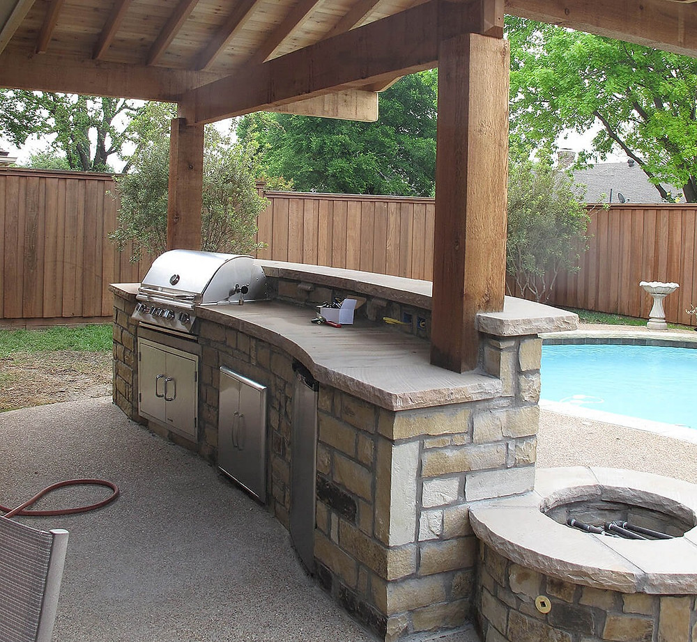 summit outdoor designs, outdoor designs, outdoor kitchen, straight kitchen, kitchen island, outdoor kitchen cabinets, outdoor, poolside bbq, bbq, built in bbq, pergola, covered patio, summit, deck builder lee's summit,
