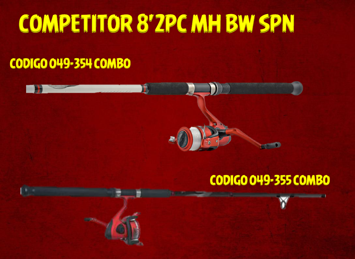 COMPETITOR 8'2PC MH BW SPN