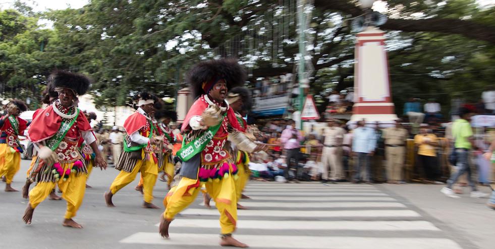 Indian tribal dancers