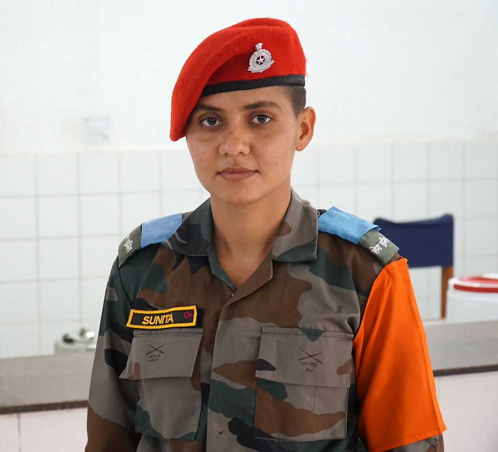 One of the cadets who was on mess hall duty. Unfortunately, I couldn't converse with her as she spoke only Hindi.