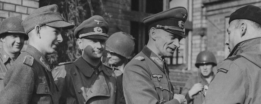 Werner Pluskat and General Dittmar in 1945
