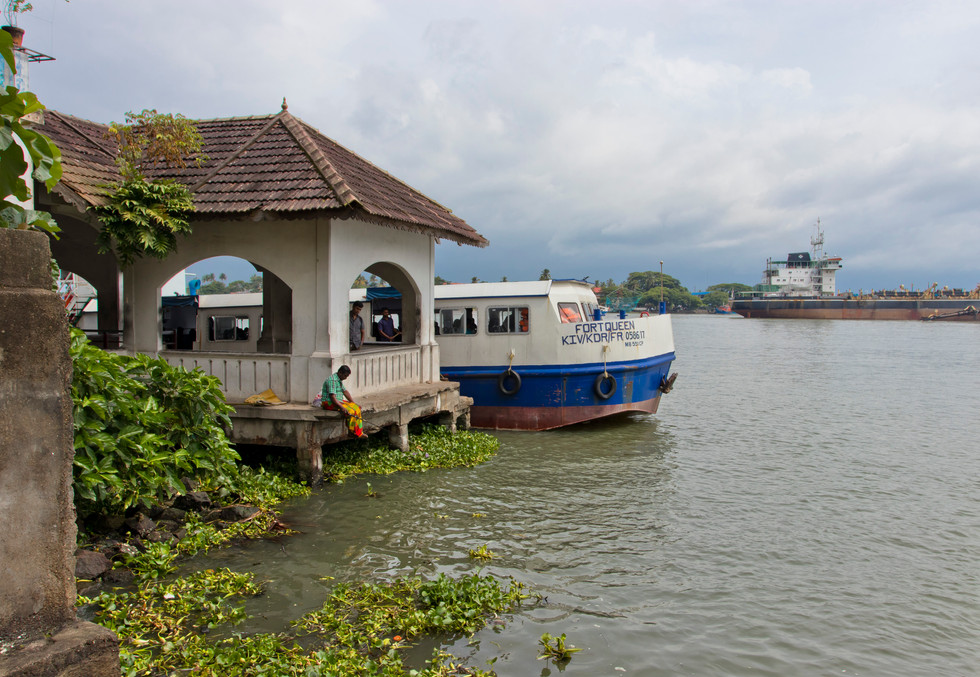 The ferry and the fisherman