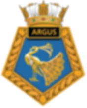 Peacock badge of the RFA Argus