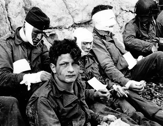 Nicholas Fina of Brookyln wounded on D-Day