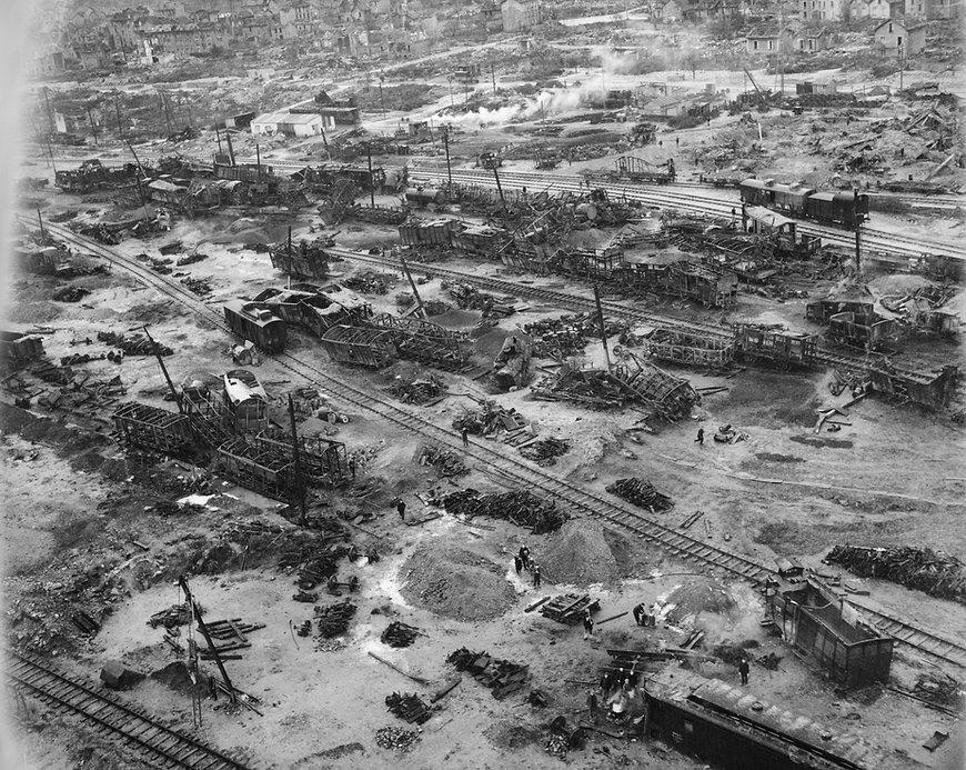 Bombed Marshalling Yard